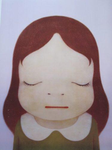 Cosmic Girl – Eyes Closed by Yoshitomo Nara