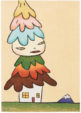 Mushroom House by Yoshitomo Nara