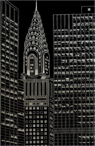 Chrysler Building Flanked By High Rise Buildings, Ii by Yvonne Jacquette at
