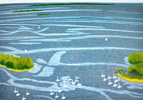 """ocean View Wind Patterns, Camden Maine"" by Yvonne Jacquette"