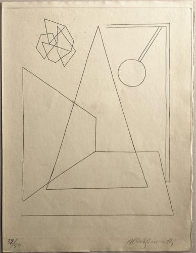 [composition I] Planche Pour Anatole Jakovski by Alberto Giacometti