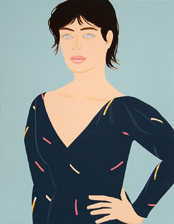 Grey Dress by Alex Katz For Sale by Michael Lisi