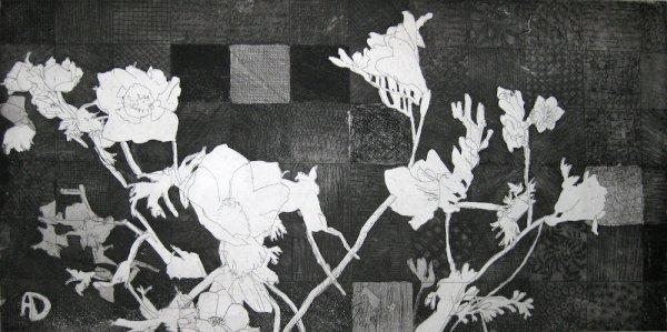 Anemones And Squares by Amanda Danicic