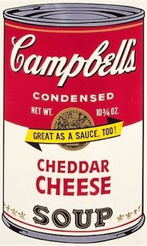 Campbell's Soup Ii: Cheddar Cheese by Andy Warhol