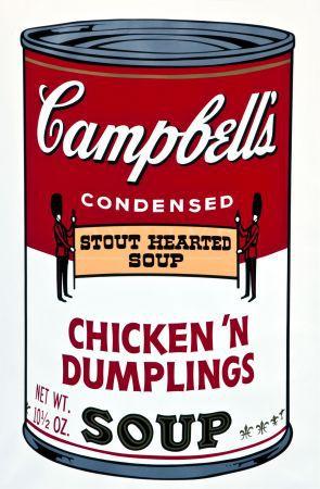 Campbell Soup ( Chicken 'n Dumplings ) by Andy Warhol
