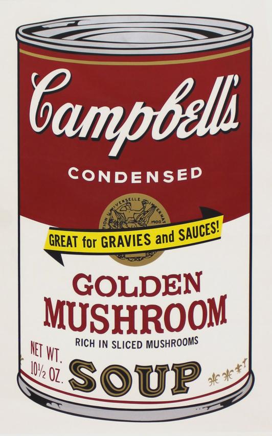 Campbell's Soup Ii: Golden Mushroom (fs Ii.62) by Andy Warhol