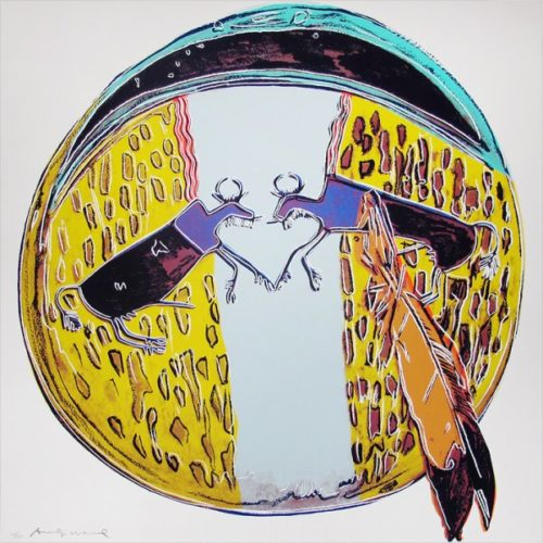 Cowboys And Indians: Plains Indian Shield by Andy Warhol