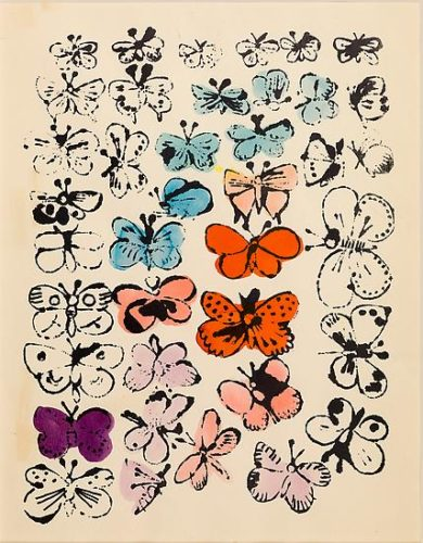 Happy Butterfly Day by Andy Warhol at Susan Sheehan Gallery (IFPDA)