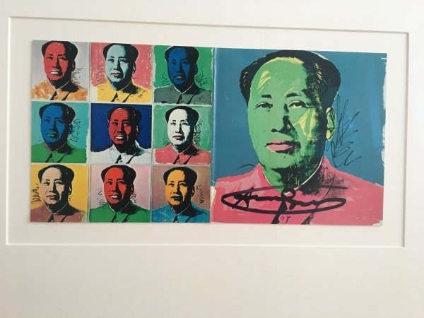 Mao Announcement by Andy Warhol at Frank Fluegel Gallery