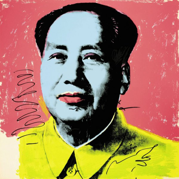 Mao, Pink And Yellow by Andy Warhol