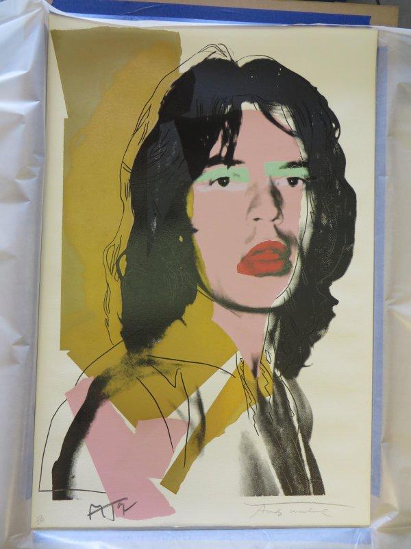 Mick Jagger Fs#143 by Andy Warhol