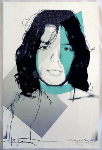Mick Jagger Fs# 138 by Andy Warhol