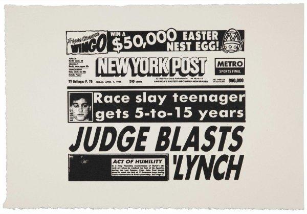 New York Post (judge Blasts Lynch) (fs Iia.46) by Andy Warhol