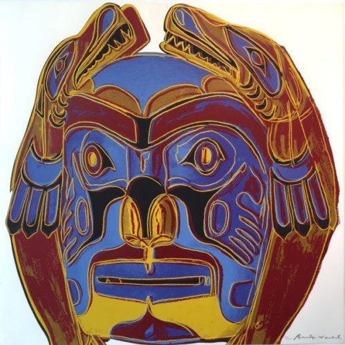 Northwest Coast Mask Fs.ii 380 by Andy Warhol