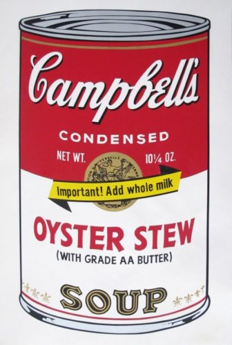 Oyster Stew – Soup Ii by Andy Warhol