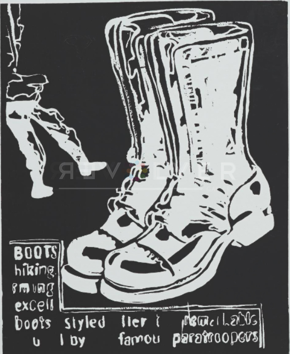 Paratrooper Boots (negative) by Andy Warhol