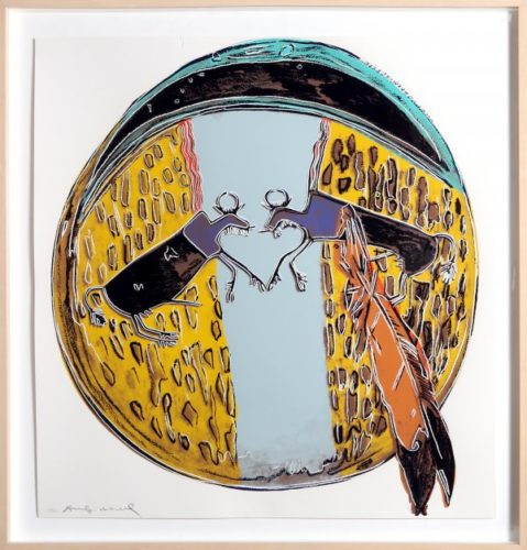 Plaines Indian Shield by Andy Warhol