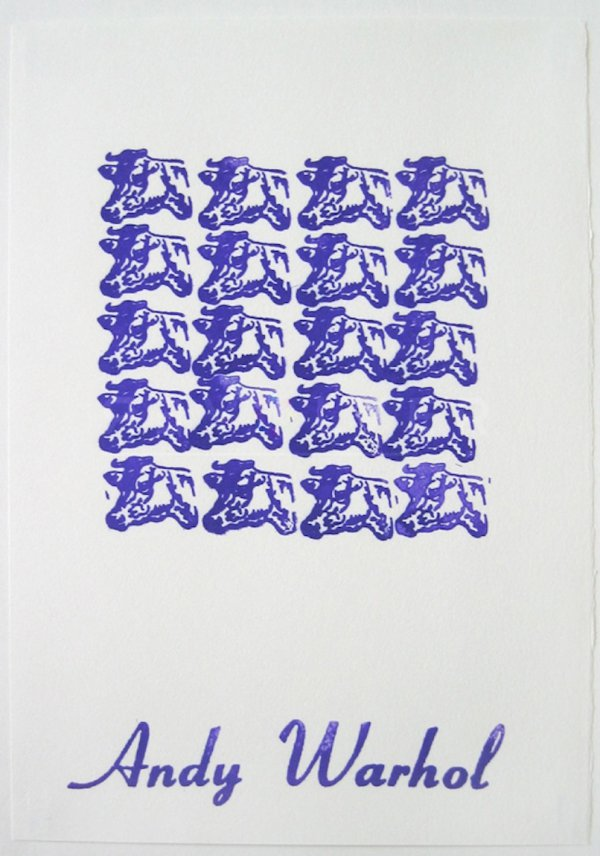 Purple Cows by Andy Warhol