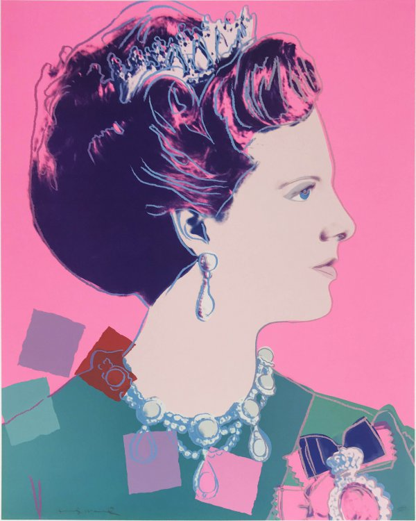 Queen Margrethte, Ii.345 (royal Edition) by Andy Warhol