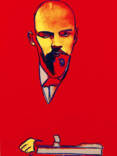Red Lenin Fs Ii.403 by Andy Warhol at Andy Warhol