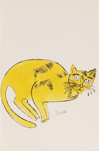 Sam (from 25 Cats Named Sam And One Blue Pussy) by Andy Warhol at Andy Warhol