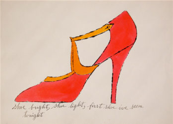 Shoe Bright, Shoe Light… by Andy Warhol at Susan Sheehan Gallery