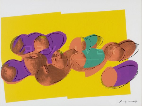 Space Fruits: Peaches (fs Ii.202) by Andy Warhol