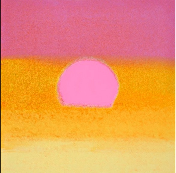 Sunset(unique)(pink/yellow) by Andy Warhol
