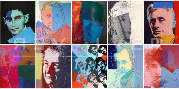 Ten Portraits Of Jews Of The Twentieth Century by Andy Warhol