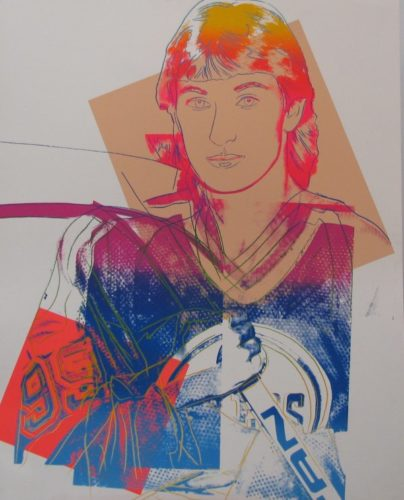 Wayne Gretzky by Andy Warhol at