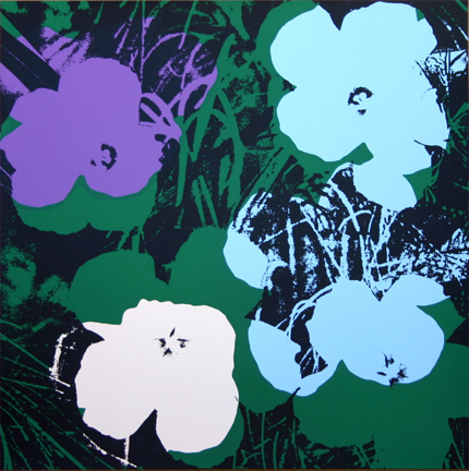 Flowers 11-64 Sunday B. Morning by Andy Warhol (after)