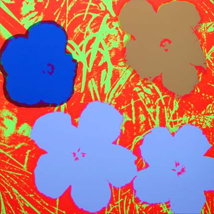 Flowers 11-69 Sunday B. Morning by Andy Warhol (after) at