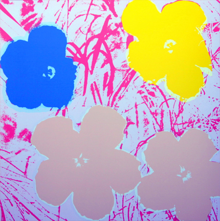 Flowers 11-70 Sunday B. Morning by Andy Warhol (after) at