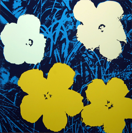 Flowers 11-72 Sunday B. Morning by Andy Warhol (after) at