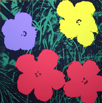Flowers 11-73 Sunday B. Morning by Andy Warhol (after) at