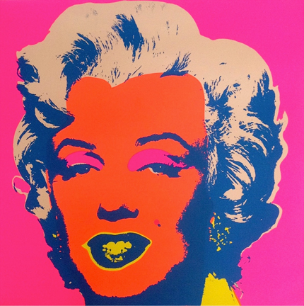 Marilyn Monroe 11-22 Sunday B. Morning by Andy Warhol (after)