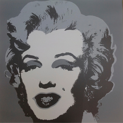 Marilyn Monroe 11-24 Sunday B. Morning by Andy Warhol (after)