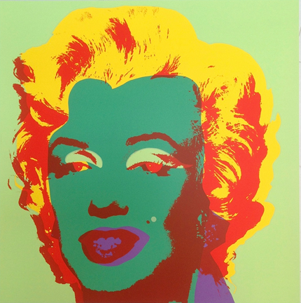 Marilyn Monroe 11-25 Sunday B. Morning by Andy Warhol (after)