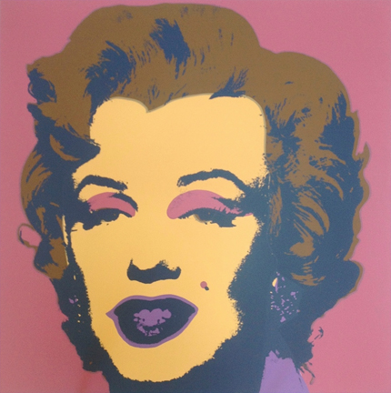 Marilyn Monroe 11-27 Sunday B. Morning by Andy Warhol (after)