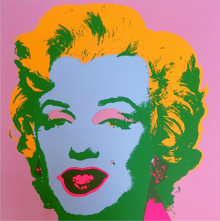 Marilyn Monroe 11-28 Sunday B. Morning by Andy Warhol (after)