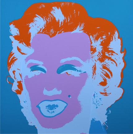 Marilyn Monroe 11-29 Sunday B. Morning by Andy Warhol (after)