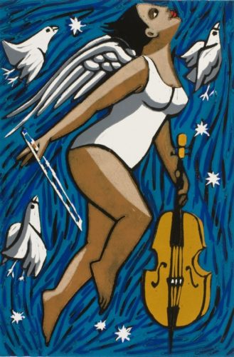 Angel With Cello by Anita Klein at Eames Fine Art