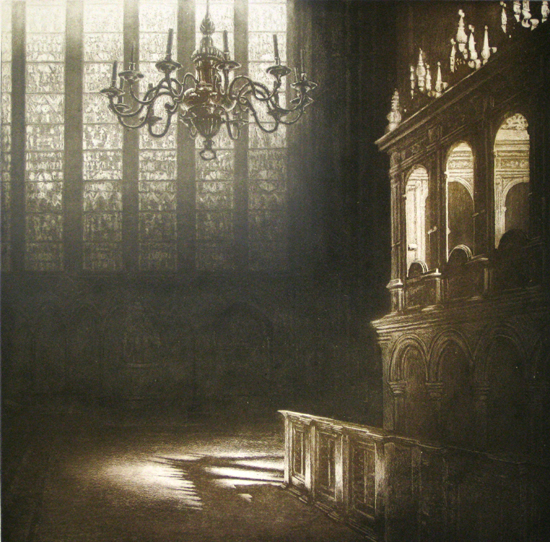 Cathedral Light Viii by Anja Percival