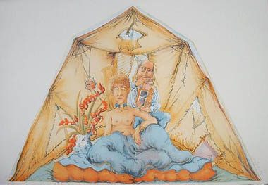 Anthony Green's Tent And Mary Couzen Walker's Box by Anthony Green