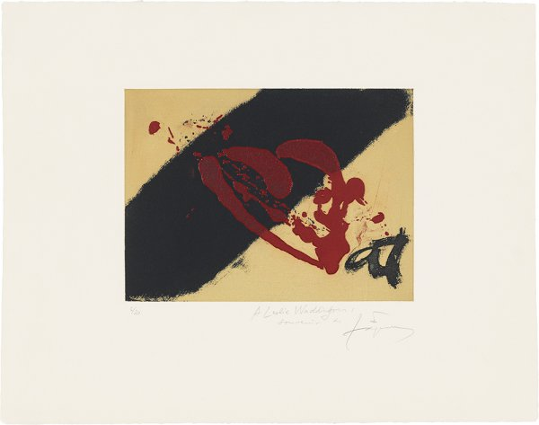 Banda Negra I Vermell by Antoni Tapies at Grabados y Litografias.com