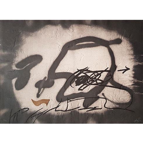 Perfil by Antoni Tapies