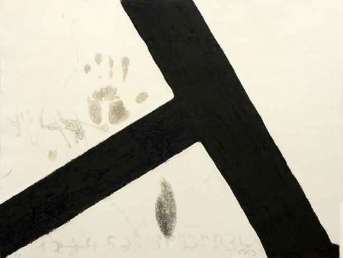 T Inclinada by Antoni Tapies
