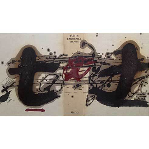 Tàpies Emprenta (book With 3 Etchings) by Antoni Tapies