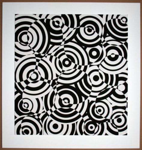 Interferences Cercles Noir Et Blanc by Antonio Asis