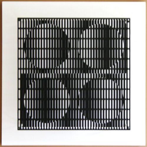Vibration 4 Cercles Noir Et Blanc by Antonio Asis